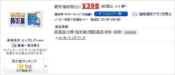 鼻炎薬A「クニヒロ」価格.comより