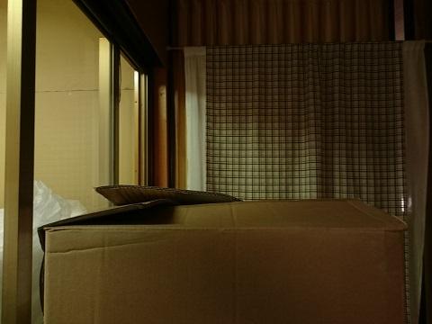 倉庫の2階のダンボール箱
