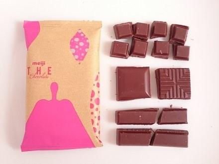 デザイン通りに割ったチョコレート
