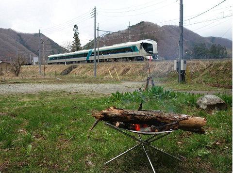 たき火と特急リバティキャンプ場 男鹿の湯 − みよりふるさと体験村