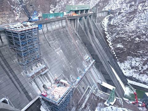 2018年2月の五十里ダム