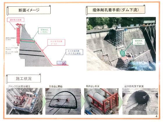 五十里ダムの工事の様子