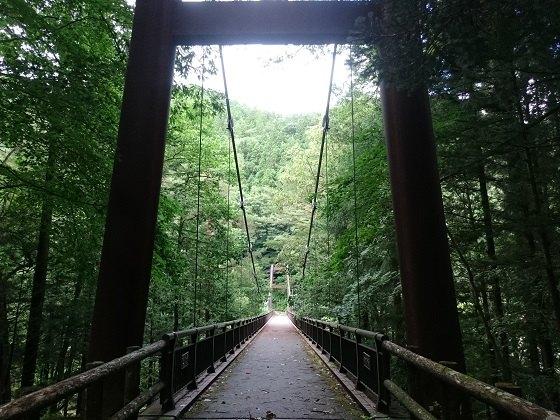 湯西川温泉の天楽堂つり橋