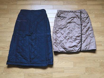キルティング巻きスカート