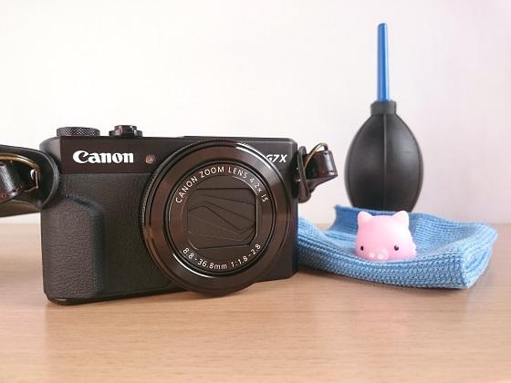 PowerShot G7X MarkIIとカメラクリーニングキット