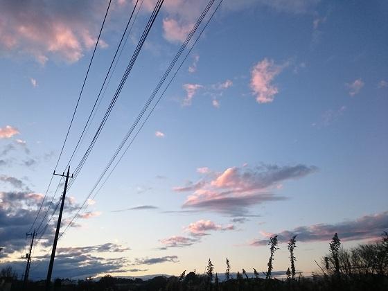 12月中旬、午後4時過ぎの夕空