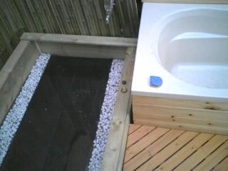 夫が作った露天風呂