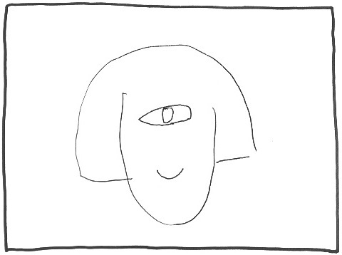 夫のブーさんが描いた一つ目の私