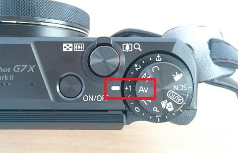 PowerShot G7 X Mark IIのモードダイヤル:Av