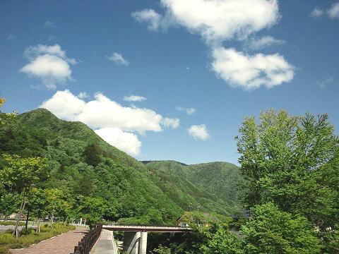 湯西川 水の郷から見た風景