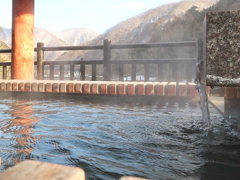 湯西川温泉 湯西川 水の郷の足湯