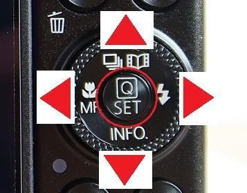 コントローラーホイールとSETボタン