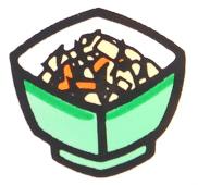 ひじき煮「おいしいとうふ うすぎり」調理例