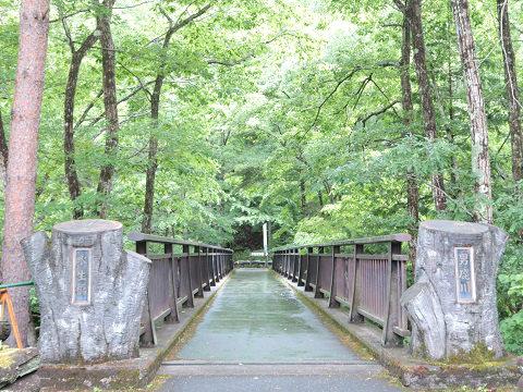 上三依水生植物園 男鹿川にかかる水生橋