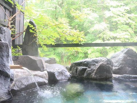 湯西川温泉 揚羽の貸切露天風呂