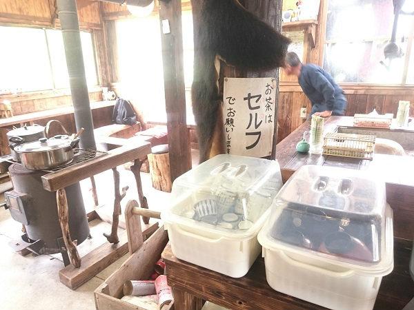 こま草の店内 栃木県日光市上三依