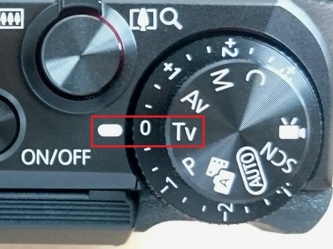 シャッタースピード優先モードで撮影するときはモードダイヤルをTvに