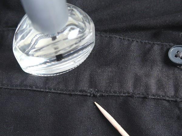 台襟の手直し シャツ襟の裏返し修理