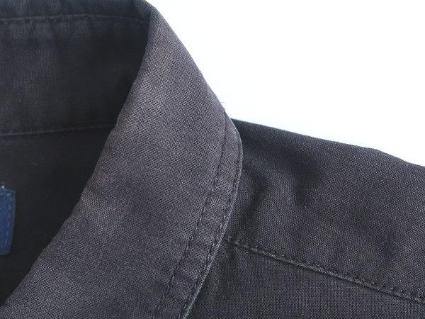 シャツ襟の裏返し修理 ビフォー