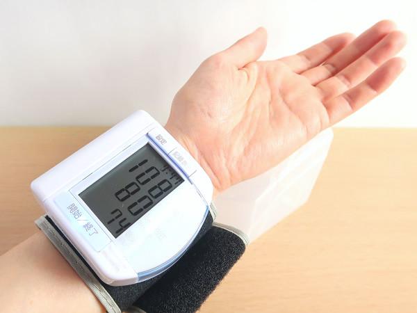 手首式血圧計の測定結果