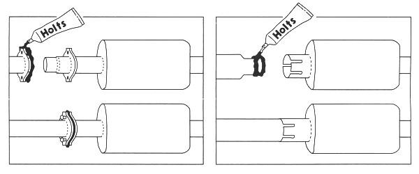 マフラー用シール剤説明書の図