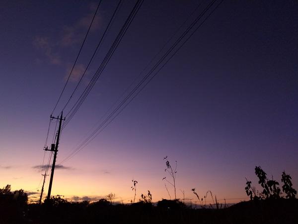 AQUOS sense3 liteで撮影した写真(夕空)