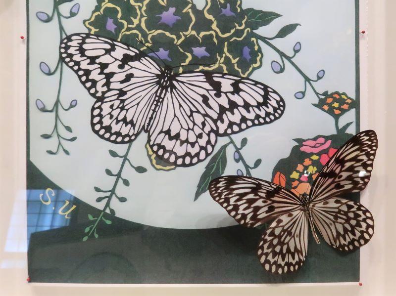 切り絵 宇津木信一さん作 蝶の美術館 湯西川水の郷