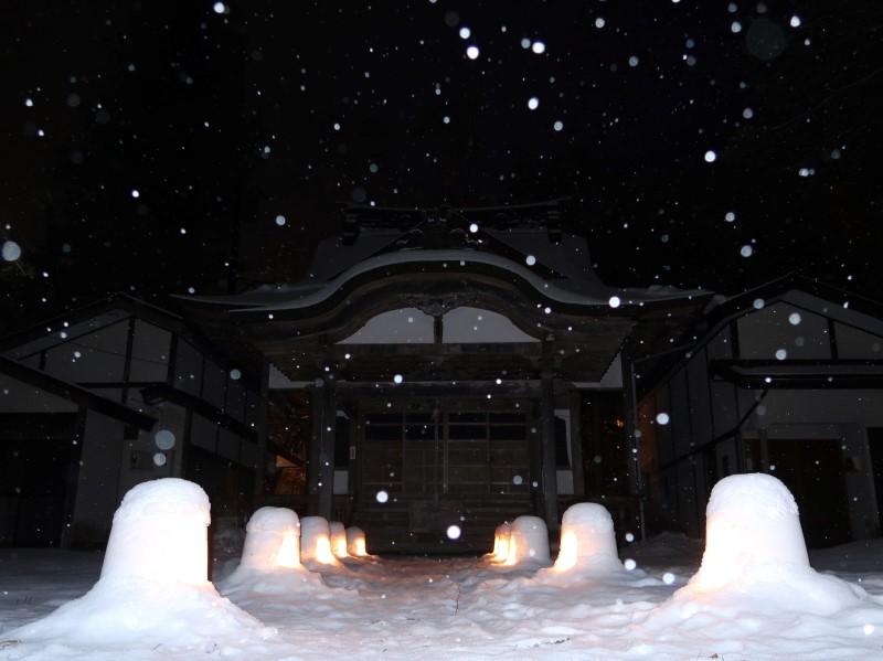 平家慈光寺会場 2020年湯西川温泉かまくら祭