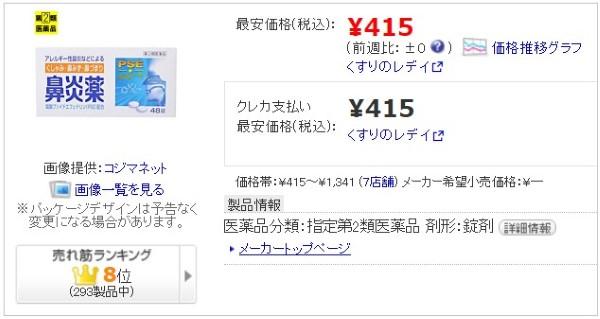 価格.comの鼻炎薬A「クニヒロ」紹介画像