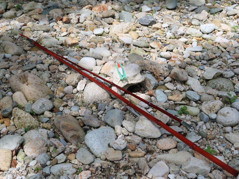 ダイソーの竹釣り竿