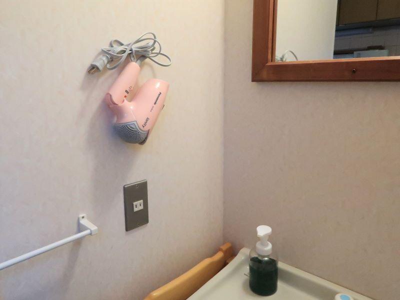 洗面所に用意されているもの みよりふるさと体験村男鹿の湯コテージ