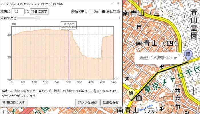 土地の断面図 地理院地図