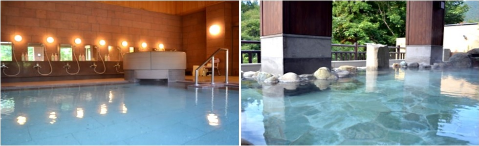 大浴場と露天風呂 湯西川水の郷