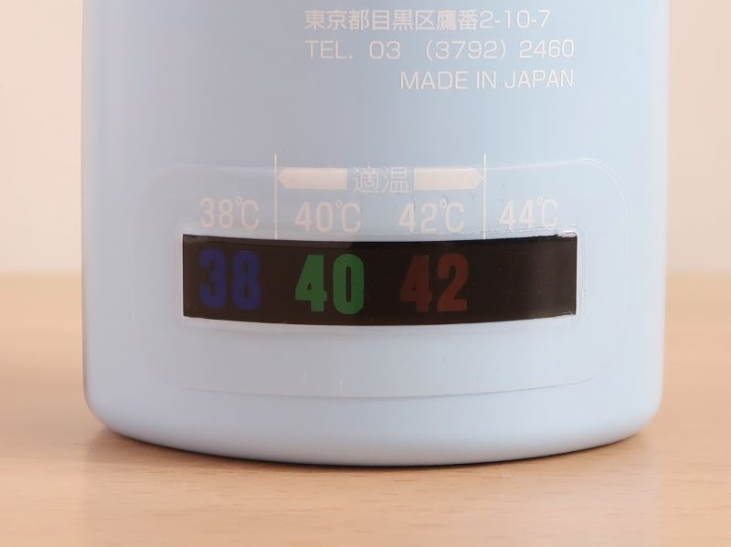 ハナクリーンSの温度計