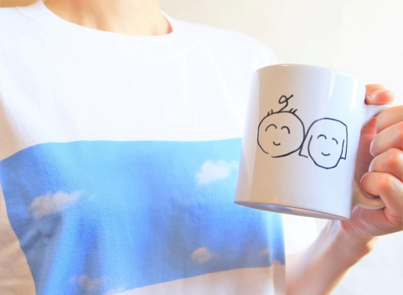 SUZURIで作ったマグカップとTシャツ