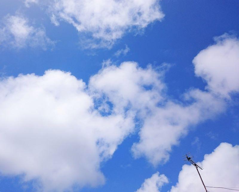 4年前、実家で撮った夏の空