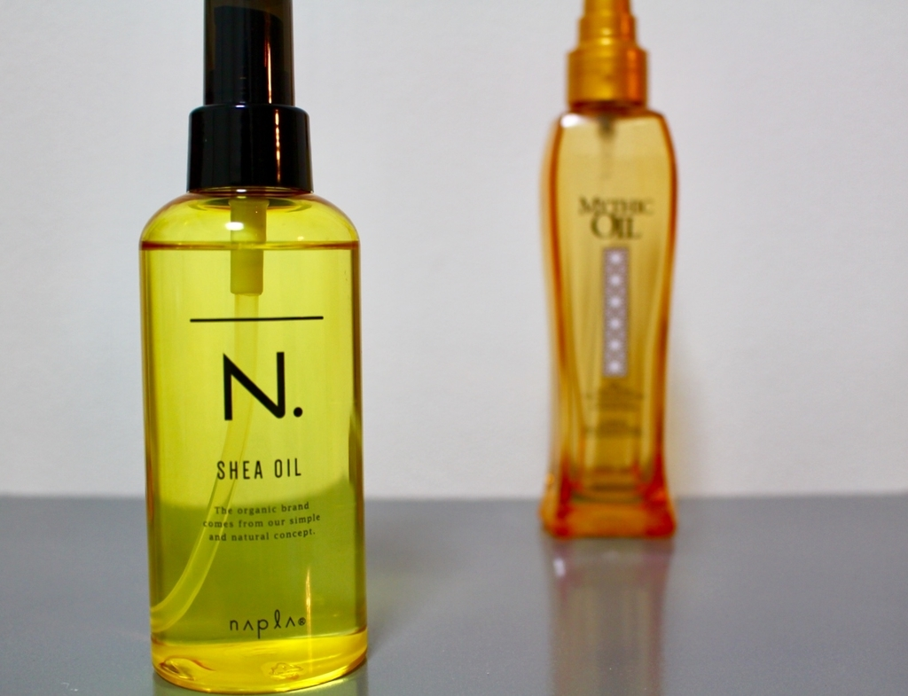 ナプラのシアオイルとロレアルのミシックオイル
