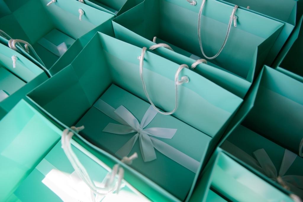 結婚式の引き出物 ティファニーの引き出物袋