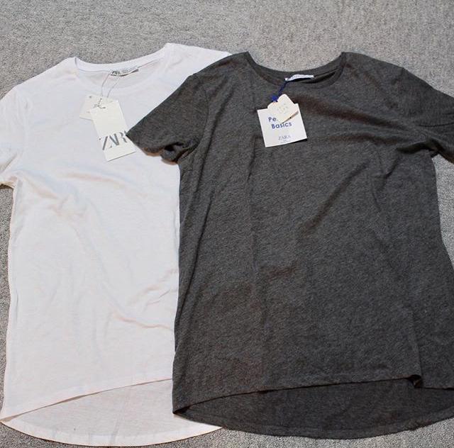 ZARAベーシックアシンメトリーTシャツ