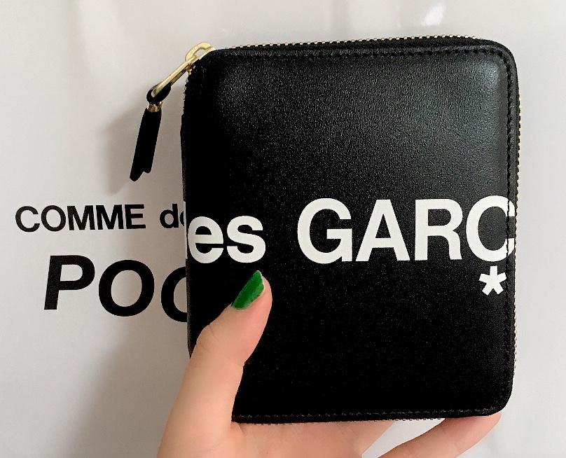 コムデギャルソン 2019ロゴ財布 ブラック