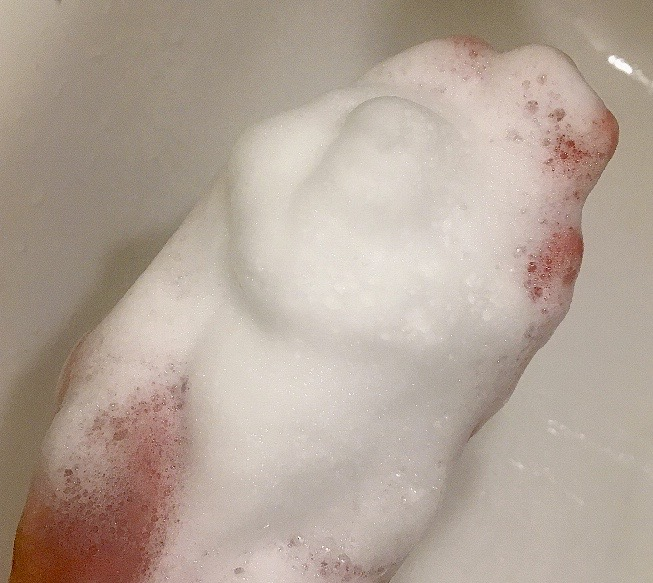 オバジ酵素洗顔の泡立ち