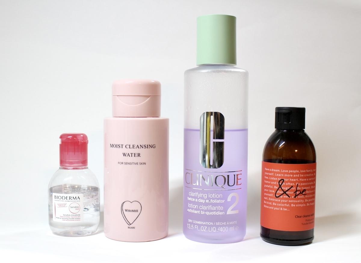 朝洗顔に拭き取り化粧水