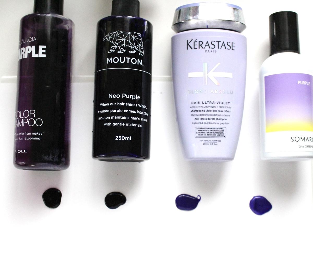 紫シャンプー 濃さ比較