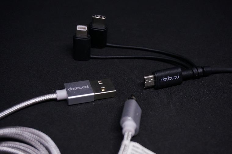【dodocool】iOSでもandroidでも使える『3in1USBケーブル』とデザイン性抜群の『USB磁力ケーブル』をレビュー
