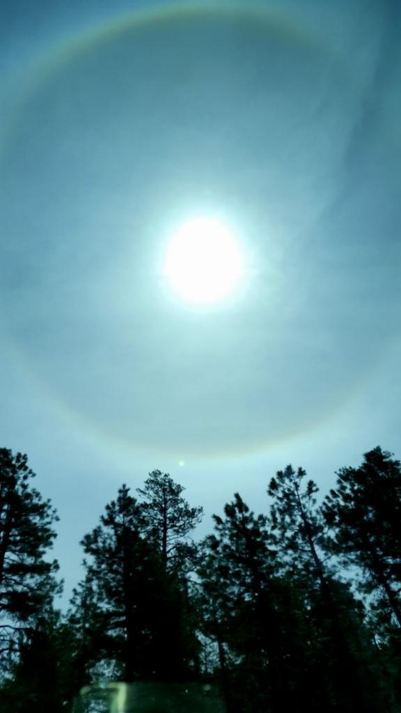 セドナに向かう間見えた丸い虹