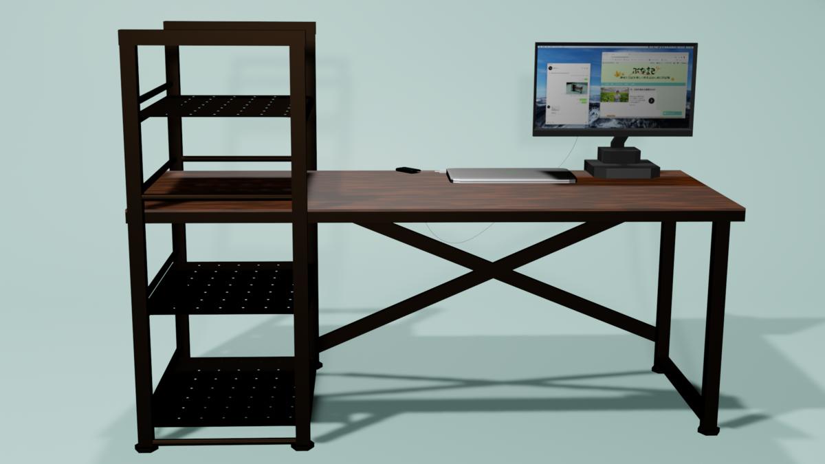 blenderで机を作る