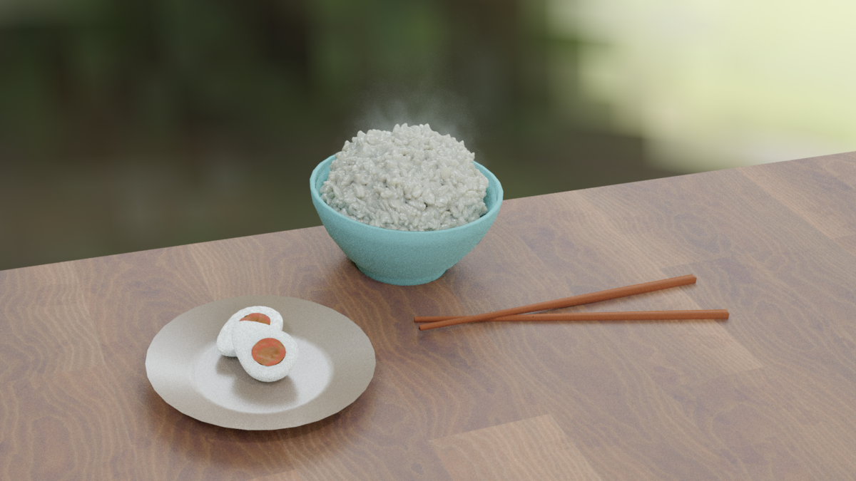 Blenderで米を作ってみた