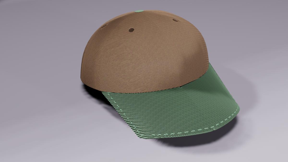 blenderで作った帽子