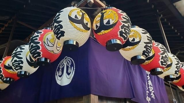 水天宮平沼神社の拝殿の提灯