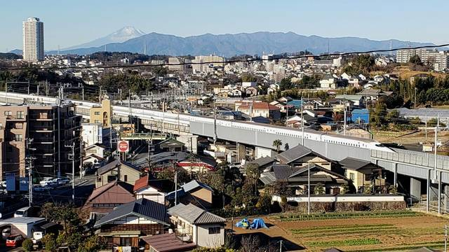 富士山神社 境内からの眺望